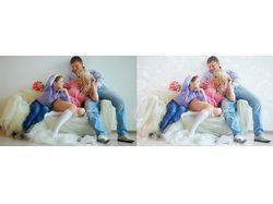 Ретушь семейной фотографии