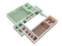 """Клуб """"Орбита"""" 3д план 3 этаж"""