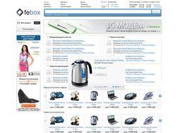 Верстка для проекта Febox