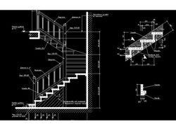 Деревянная лестница частный дом
