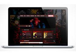 Дизайн сайта комиксов