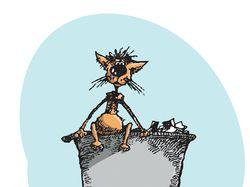 Кот на мусорке