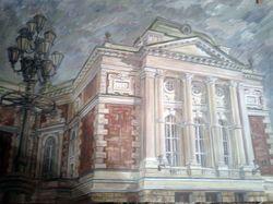 Живопись. Фрагмент здания. 2012 г.