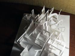 Макет абстрактного пространства. Ватман, клей пва.