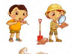 Разработка персонажей для детской книги