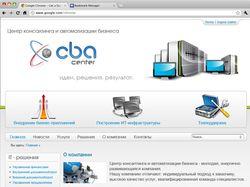"""Сайт компании """"CBA-center"""""""