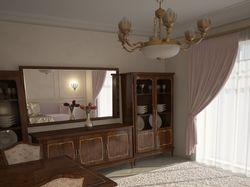 3д модель комплекта мебели в гостинную и ее виз