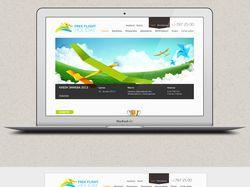 Дизайн сайта по запуску самодельных самолетов