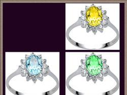 Замена цвета камней в ювелирных украшениях