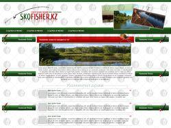 Макет сайта рыбалки(страница новости)