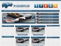 Дизайн для сайта автомобильных новостей
