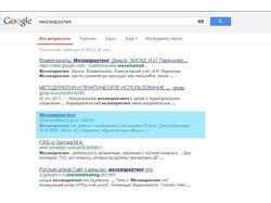 Мезомаркетинг - Поиск в Google