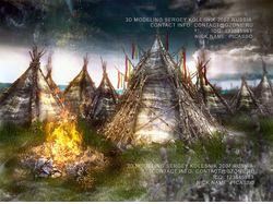 3д артдля игры ,лагерь орков