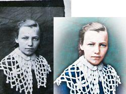 Старое фото в цветное