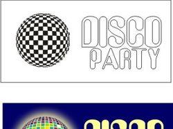 Знак и логотип для вечеринки в стиле диско