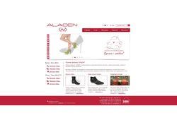 Сайт-каталог обувной компании aladen.ru
