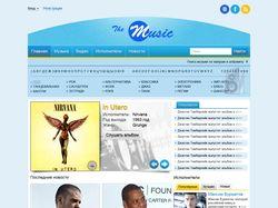 The Music - дизайн музыкального сайта