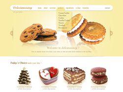 Дизайн сайта кондитерских изделий