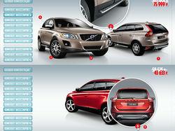Интерактивная шапка комплектации для Volvo CX60