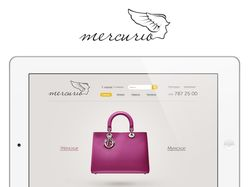 Интро страница для интернет- магазина сумок