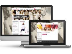 """Логотип + Сайт для магазина одежды """"Модна Пани"""""""