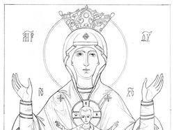 Рисунок иконы Неупиваемая Чаша