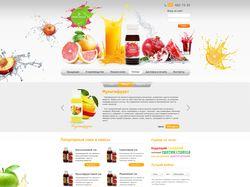 Дизайн сайта по производству натуральных соков