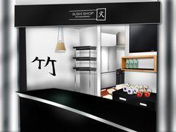 Суши шоп - макет магазина в т/ц Alfa