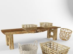 Плетеная мебель и предметы из роттанга