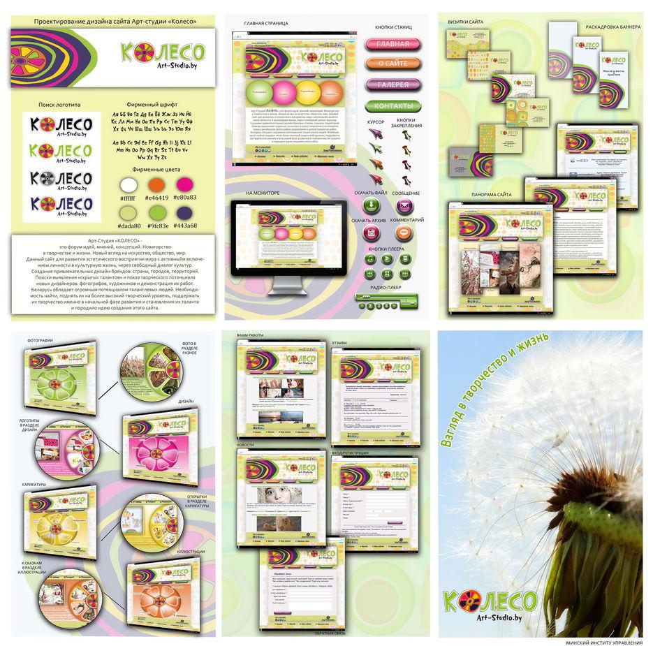 Дизайн сайта арт студии Колесо дипломная работа Работа №  5 4 МБ
