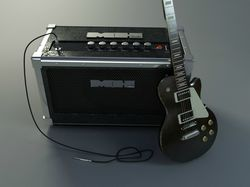 Гитара с комбоусилителем