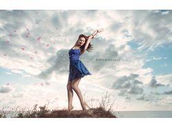 Flying rose