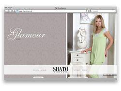 Разработка сайта производителя одежды Shato Homewe