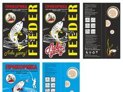 Дизайн пакета для рыбьего прикорма