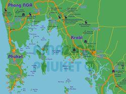 Стилизованная карта Пхукета