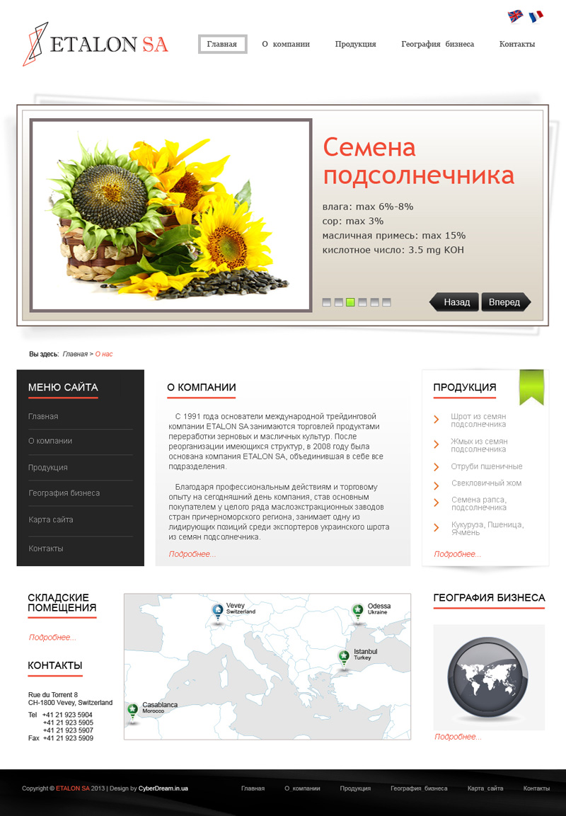 Сайты компаний продукций какую тему можно выбрать для создания сайта