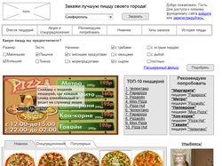 Динамический прототип главной каталога пиццерий