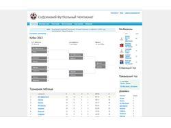 Сайт футбольного чемпионата