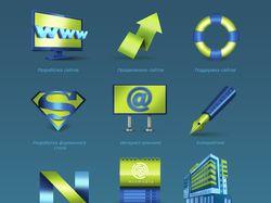 Иконки для сайта веб-студии «Mixmedia»