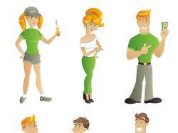 Персонажи для сайта yamacaco.com
