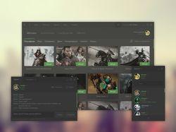Концепт плоского дизайна Steam