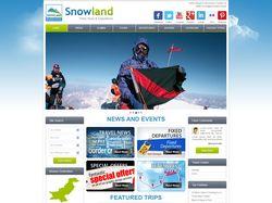 SnowLand - разработка дизайна и верстка 7 страниц