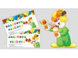 Персонаж и визитки для магазина сладостей