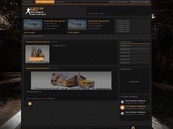 Изготовление макета и верстка для игрового сайта