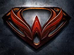 """Буква """"W"""" в стиле Супермена"""