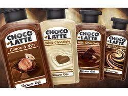 """Дизайн этикеток серии """"шоколадных"""" гелей для душа"""