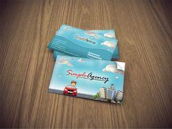 Дизайн визиток (Simple Agency)