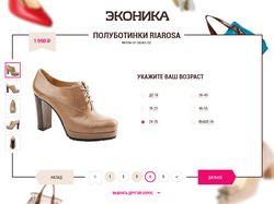 Верстка сайта Econica