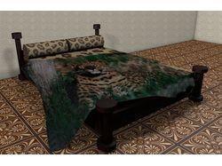 Кровать с пледом