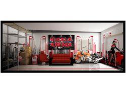 Интерьер гаража для спортбайков